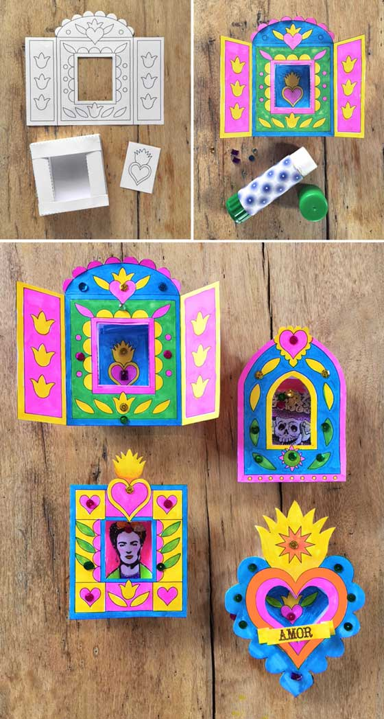 Nicho craft activity for day of the dead easy diy for Art and craft file cover decoration