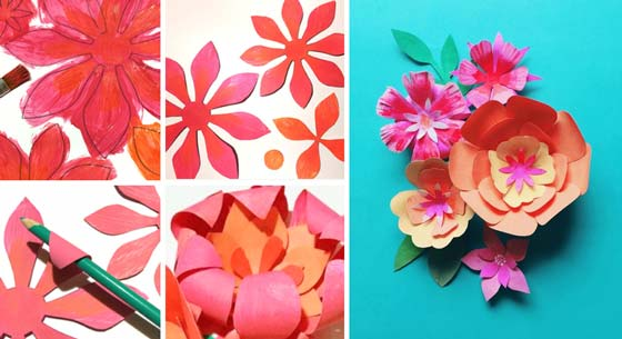 How to make a paper flower crown for Cinco de Mayo