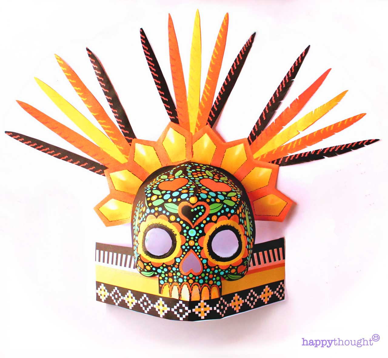 Make your own DIY chimalli headdress crown