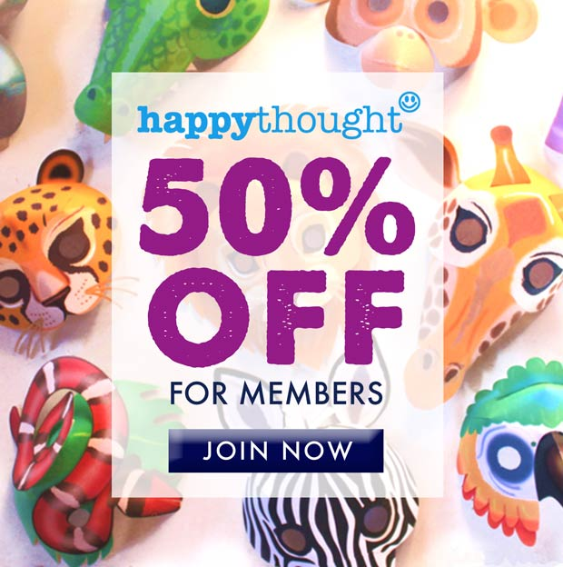 Make your own DIY animal masks - Go wild - 50% OFF to members!