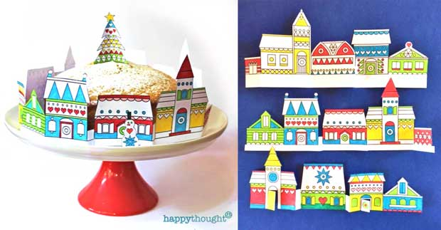 Make your own cake decorations festive craft activity