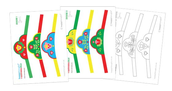 Matryoshka doll crown template-patterns!