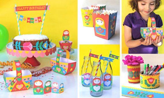 Matryoshka dolls papercraft patterns!