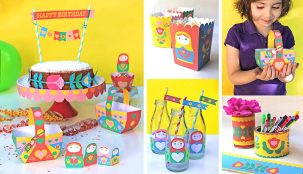 Matryoshka Doll Party Kit And Craft Pack