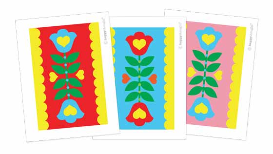 Printable flower placemat templates for table decorations