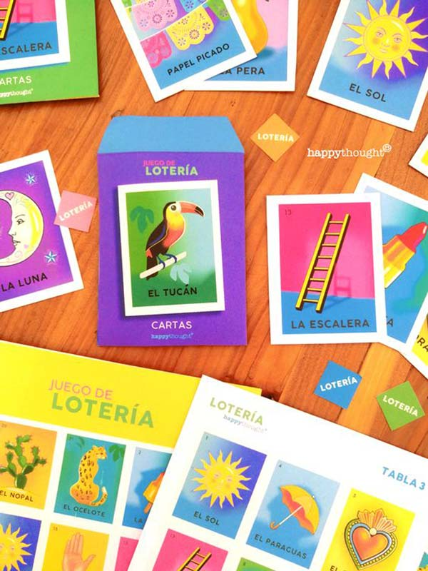 mexican loteria cards and board game printable PDF