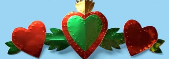Make a Milagro heart ornament
