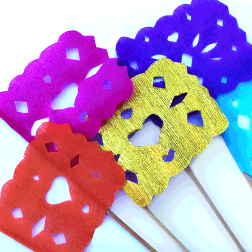 Mini DIY Papel Picado flags