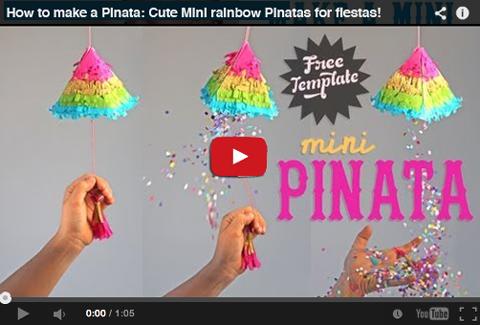 Mini pinata tutorial on youtube!