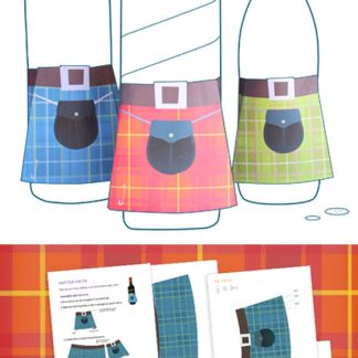 Mini tartan kilt templates - printable papercraft decorations!