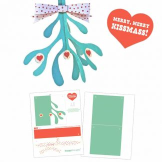 mistletoe-template-papercraft pdf-no-sew craft pattern