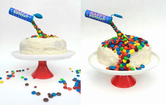 Birthday cake ideas Make an AntiGravity MM cake