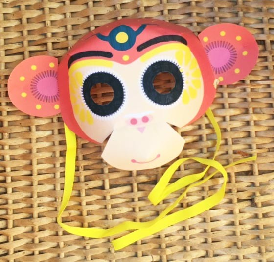 Monkey mask for a Chinese New Year craft activity!
