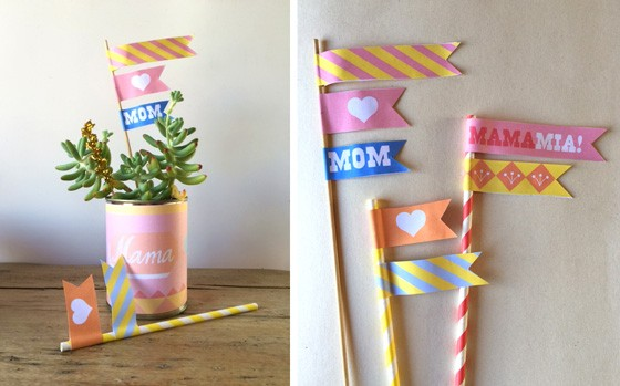 Happy Mothers day ideas: Free printable label templates!