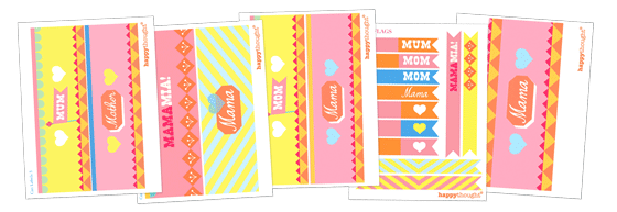 Mother's Day mama labels template!