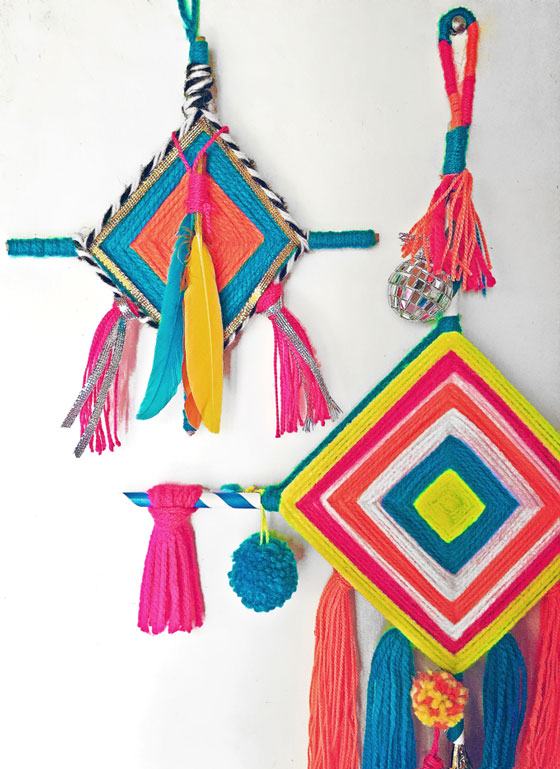 DIY make Ojos de Dios step-by-step photo tutorial