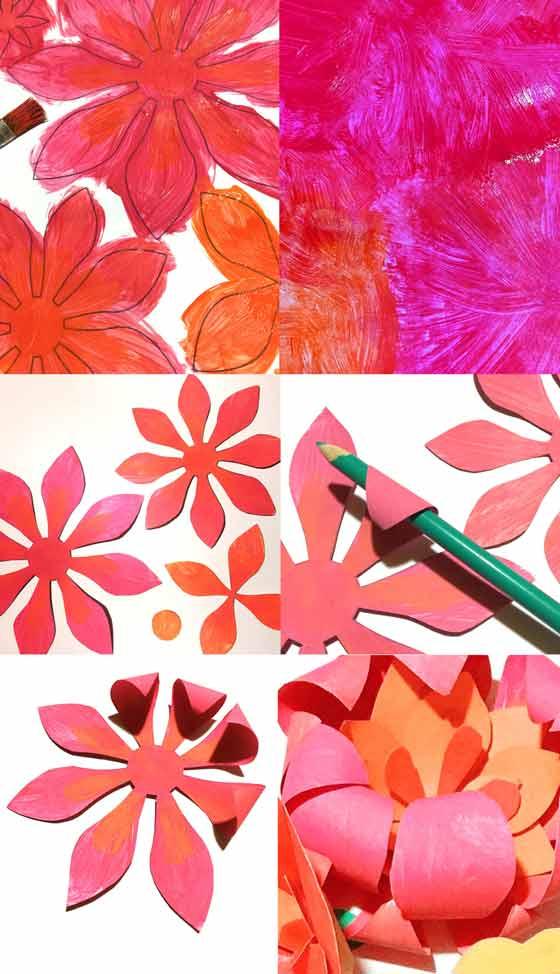 ¡Flores de papel para corona de Cinco de Mayo!