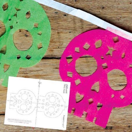 Make a DIY calavera garland for Day of the Dead!