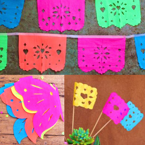 image relating to Papel Picado Template Printable titled Do-it-yourself papel picado templates. Banners, erflies + flags