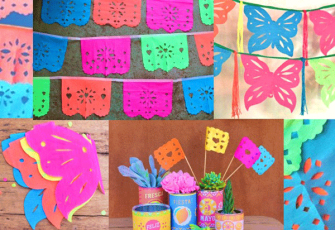 Printables diy craft activities templates and tutorials for Papel picado template for kids