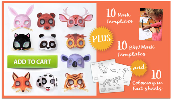 Ideas de máscaras de papel de animales. ¡Imprimibles!