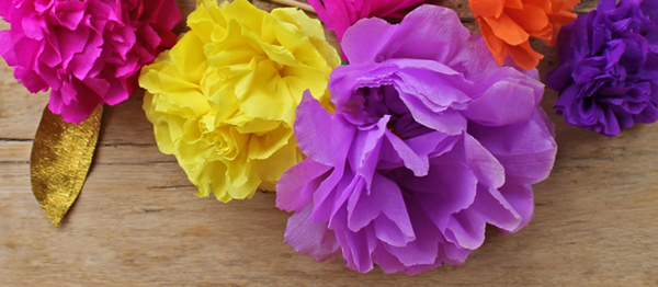 Mexican paper flower tutorial for Cinco de Mayo!