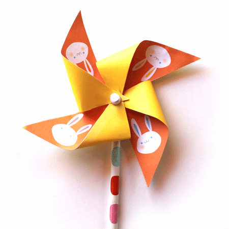 Paper Pinwheel Templates Easter Bunny Party Printables