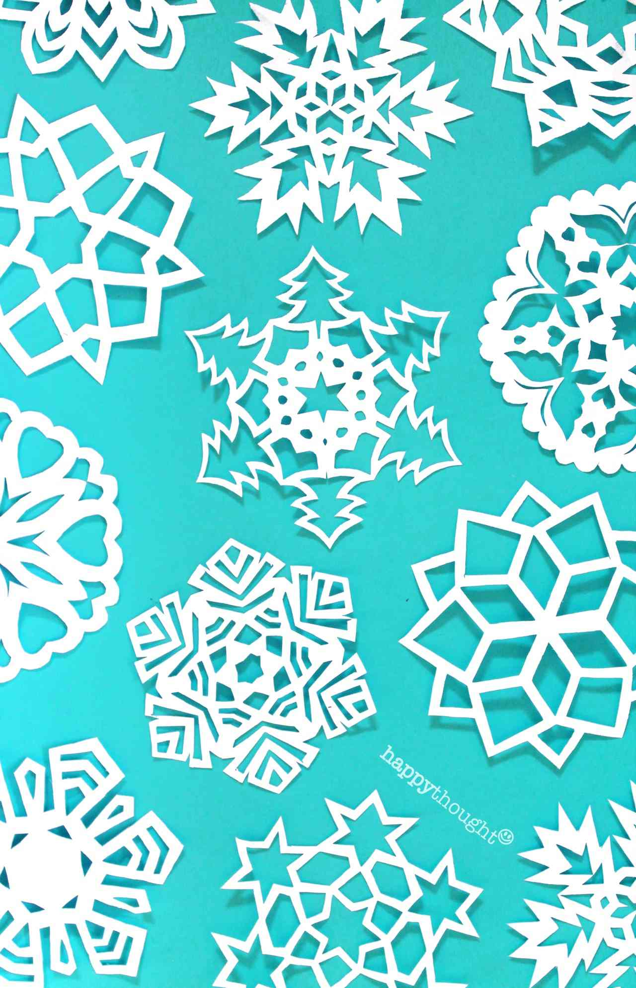 Patterns and designs to make your own snowflakes