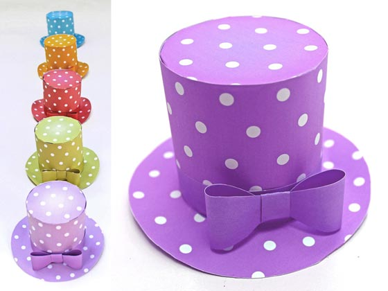 Polka dot designs party hat template   Be the bell of the ball Polka dot mini top hat  5 DIY printable templates to download . Diy Party Hats Template. Home Design Ideas