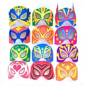 Printable DIY lucha libre mask designs