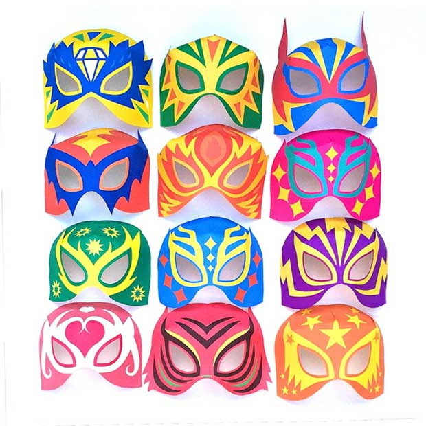 photograph regarding Printable Masks identified as 12 printable Lucha Libre masks