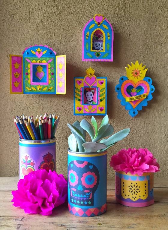 Printable box frame templates: Day of the Dead nicho craft activity!
