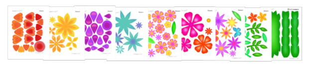 colorful flower templates to make a flower crown