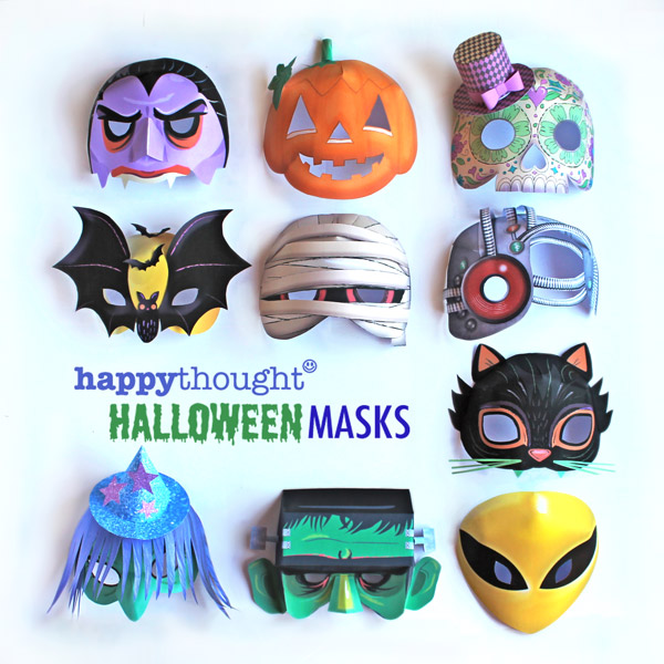 10 printable paper Halloween mask to print and make at home