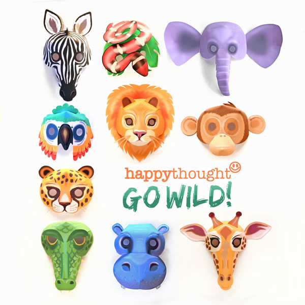photo about Printable Lion Masks called 10 printable wild animal masks