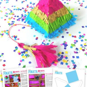 Mini piñata templates: How to make a mini pinata with templates and tutorials!