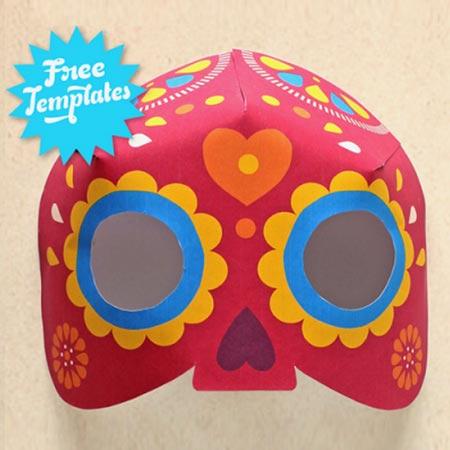 3D Calavera mask craft video