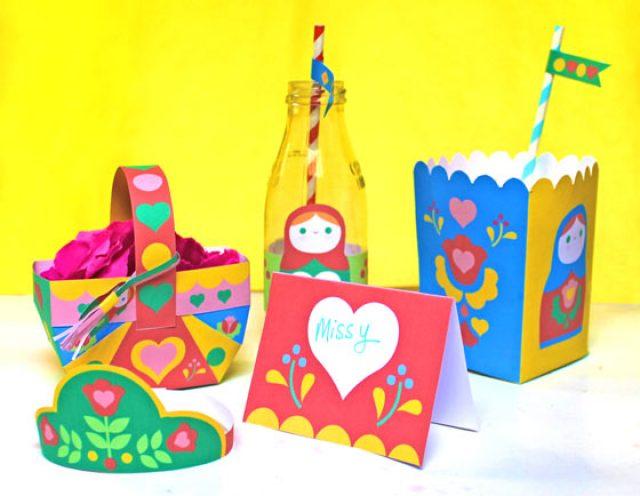 Russian Matryoshka doll papercraft!