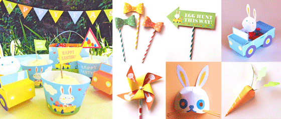 Happy holiday Easter Bunny printable kit!