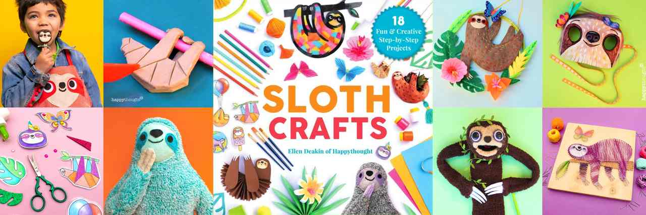 SLOTH CRAFTS - a new craft book full of fun craft ideas and templates!