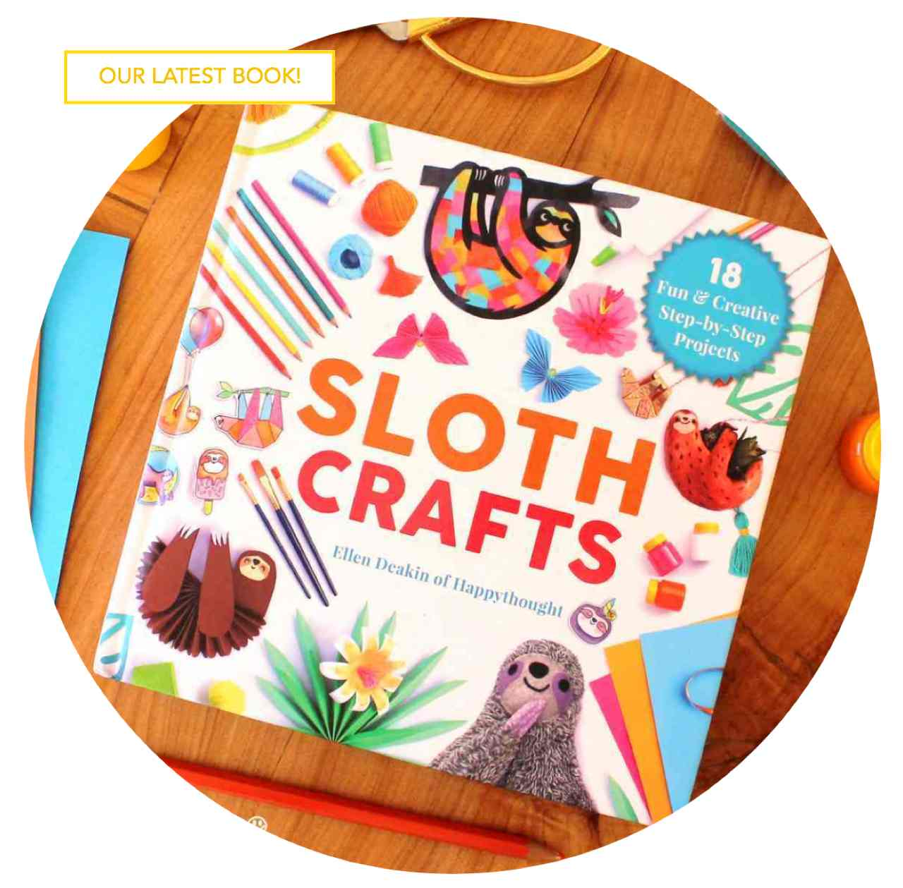 Sloth craft book by Happythought