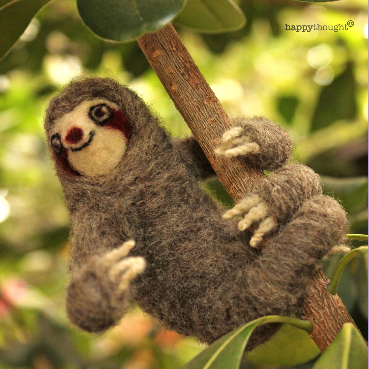 Needle felt sloth crafts to make at home or in class.