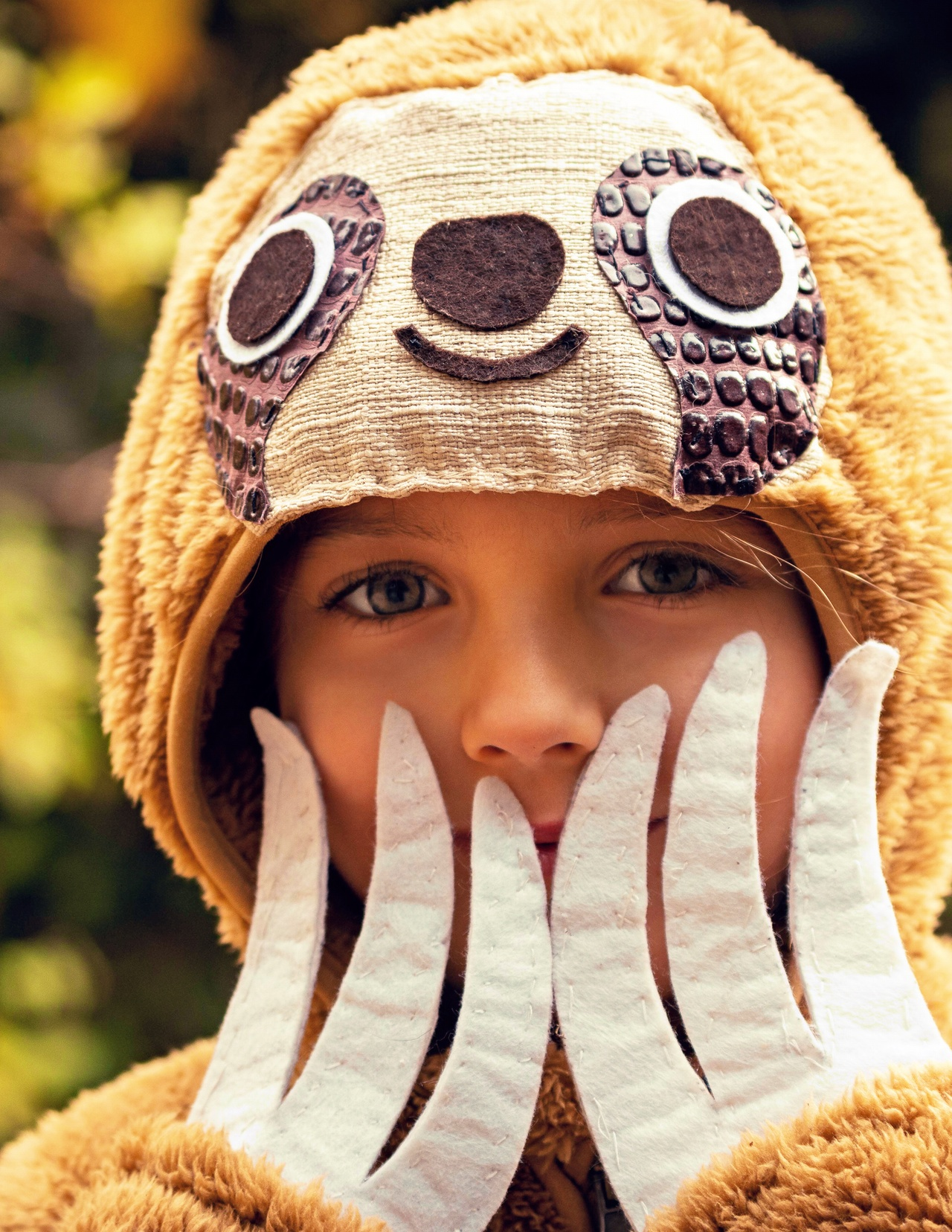 Make a sloth craft hoodie! Easy steps and instructions in the book!
