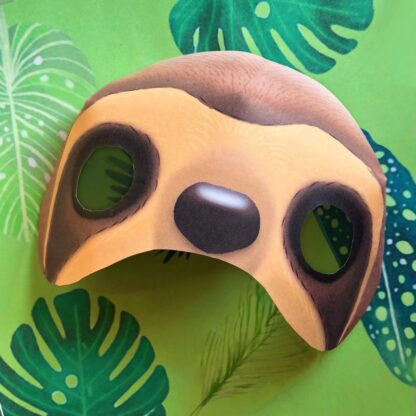 sloth mask template craft book featuring projects activities and craft