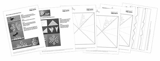 Snowflake crown templates and instructions: Happythought Holiday craft activity pack!