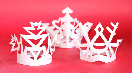 Snowflake Crowns Craft Headpieces Template To Cutout Instructions Happythought Holiday Activity Pack