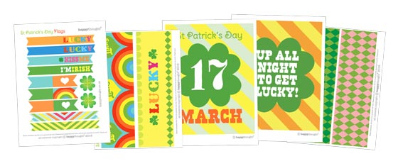 Easy DIY St Patrick's Day party posters and decorations!