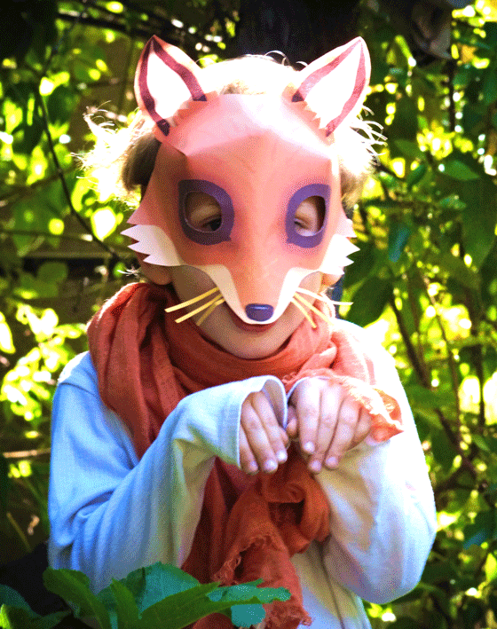 Cute fox mask patterns to make. Easy step-by-step instructions!