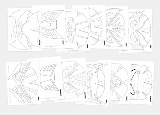 Superhero mask templates: Black and white mask worksheets to colour in!