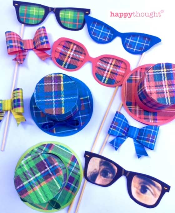 Photo props!: Tartan hats, Burns Glasses and bow tie templates